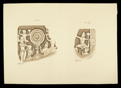 Fragments of dome slabs from the Great Stupa of Amaravati